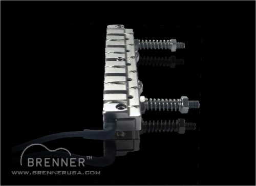 Brenner Piezo Acoustic Bridge Gang Saddle Saddles for Electric Hybrid Guitars